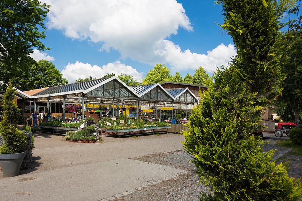 Hofladen mit Blumenverkauf