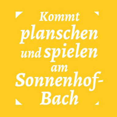 Planschen und spielen am Sonnenhof-Bach