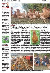 Die Sonnenhof Hühner ind der Ludwigsburger Kreiszeitung