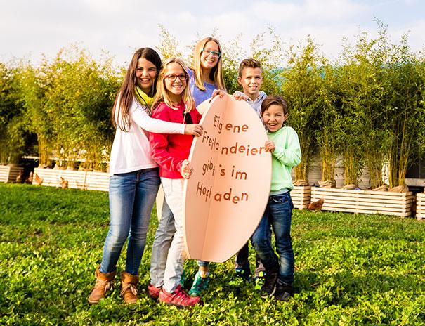 Kinder lernen, woher Lebensmittel stammen