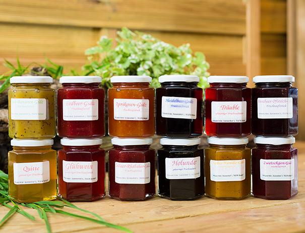 Verschiedene Marmeladesorten